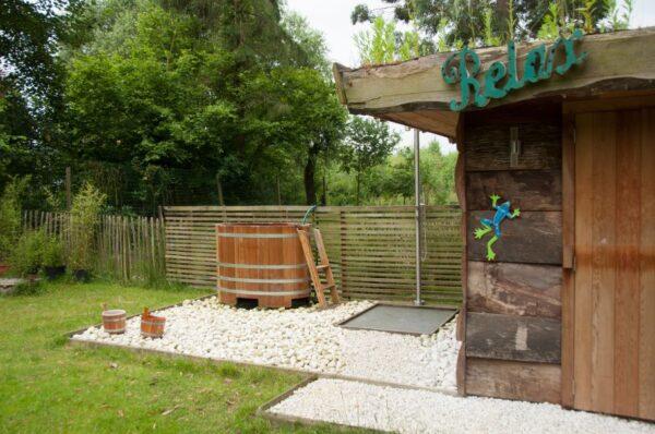 Natuurhuisje in Ursel 33940 - België - Oost-vlaanderen - 4 personen - hottub buitendouche