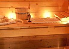 sauna met olie