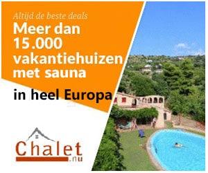 chalet vakantiehuis met sauna banner