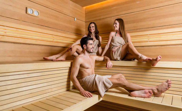 sauna in het huisje