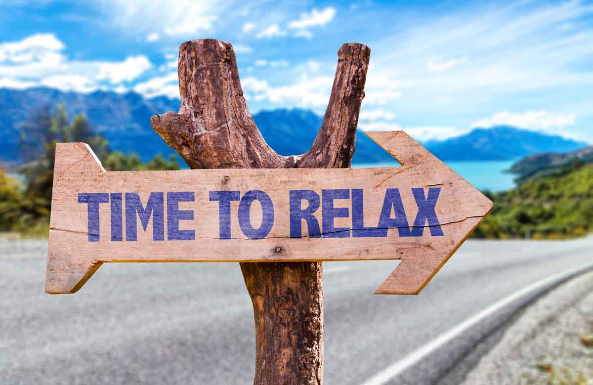 ontspannen op vakantie